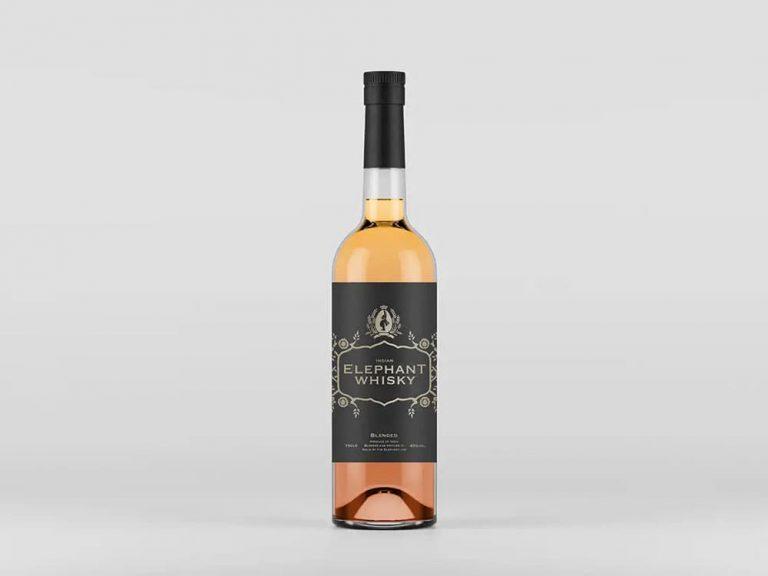 Free Liquor Bottle PSD Mockup