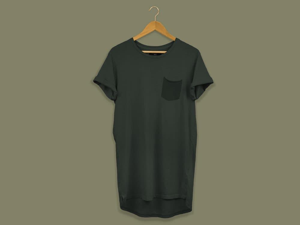 Free Longline T-Shirt Mockup
