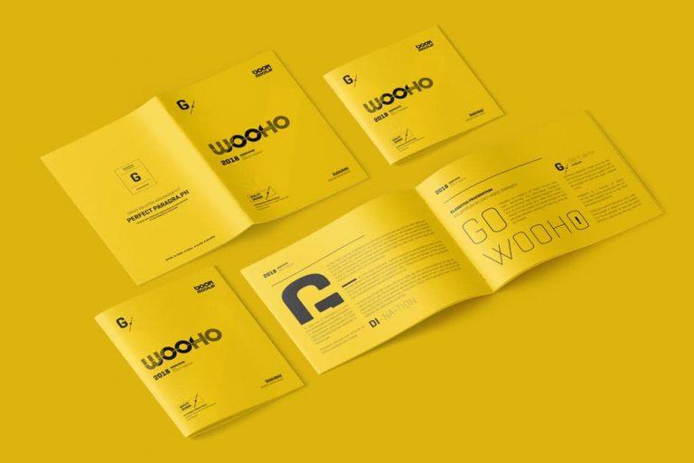 Free Magazine Brochure PSD Mockup