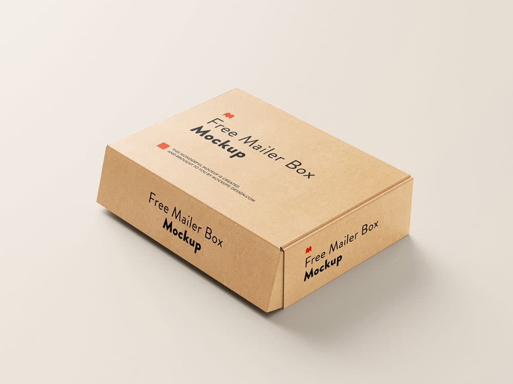 Free Mailer Box PSD Mockups