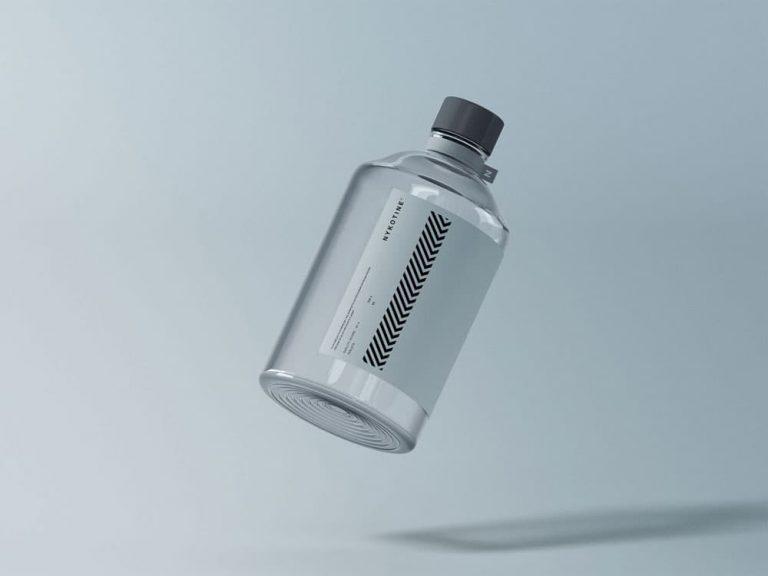 Free Medical Glass Bottle PSD Mockup