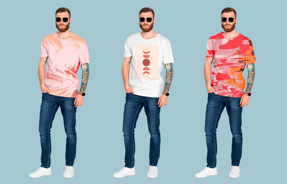 Free Mens T-Shirt PSD Mockup