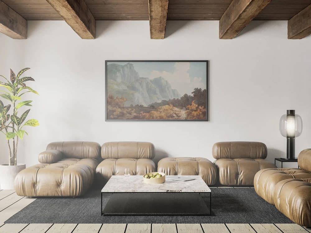 Free Modern Living Room Poster Mockup