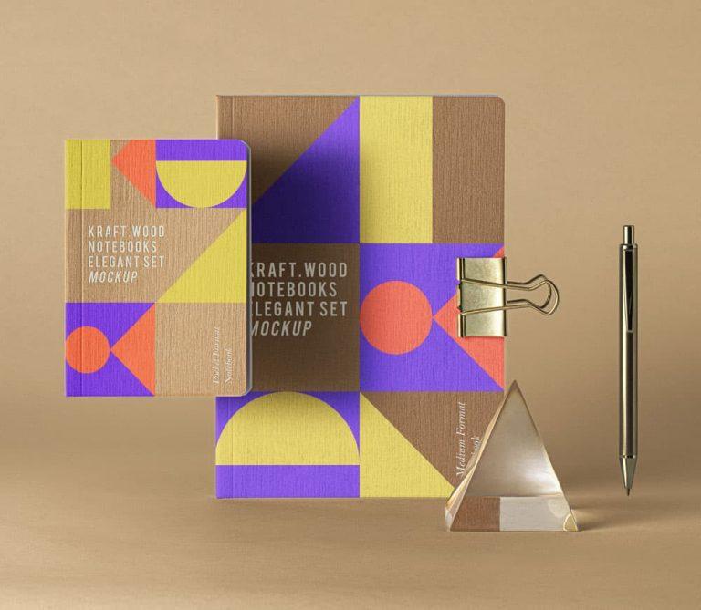 Free Notebook Design PSD Mockup