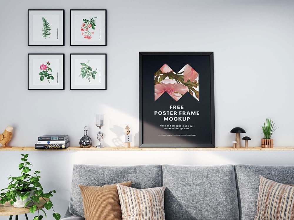 Free Poster Frame PSD Mockup