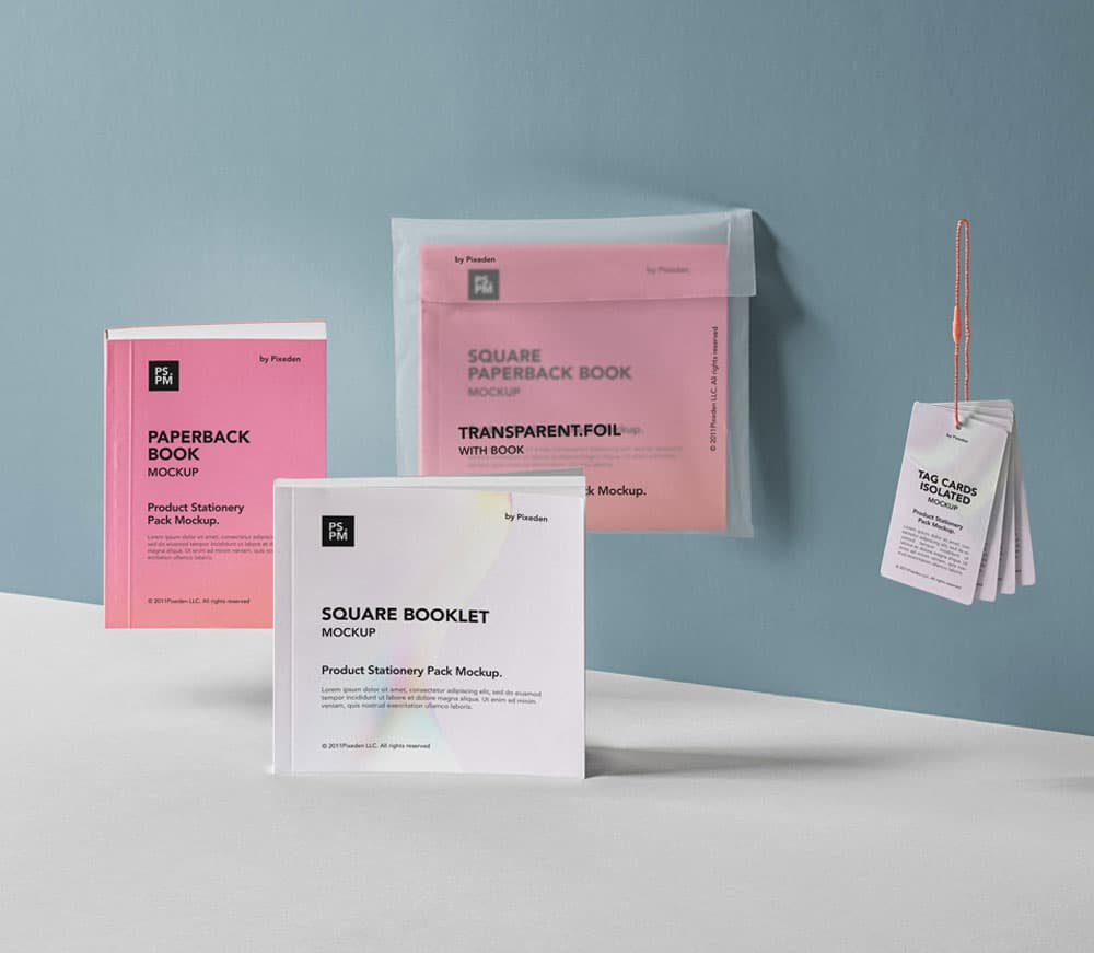 Free Product Manual Branding PSD Mockup
