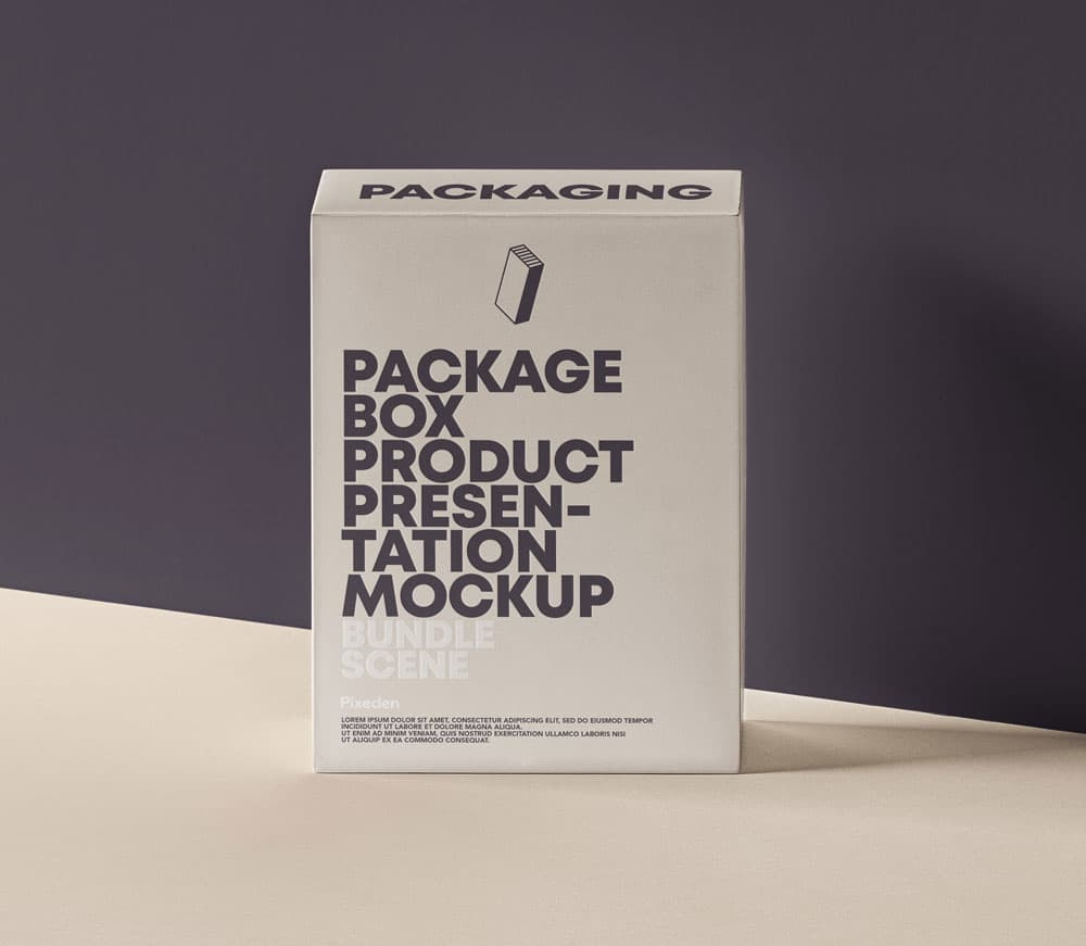 Free Product Packaging Box PSD Mockups