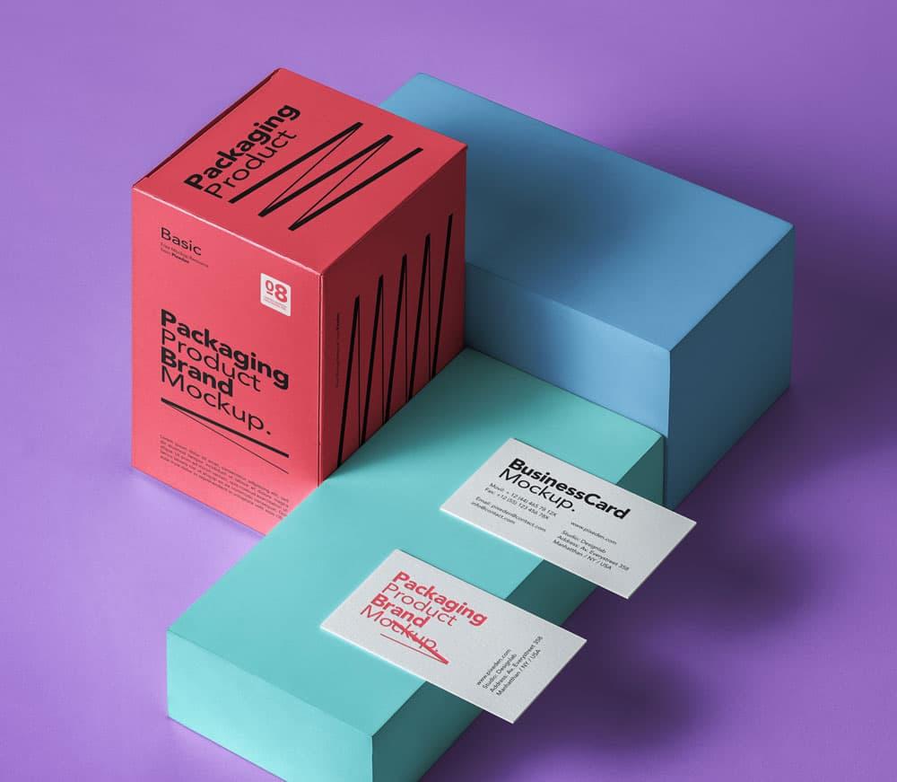 Free Product Packaging Branding PSD Mockup