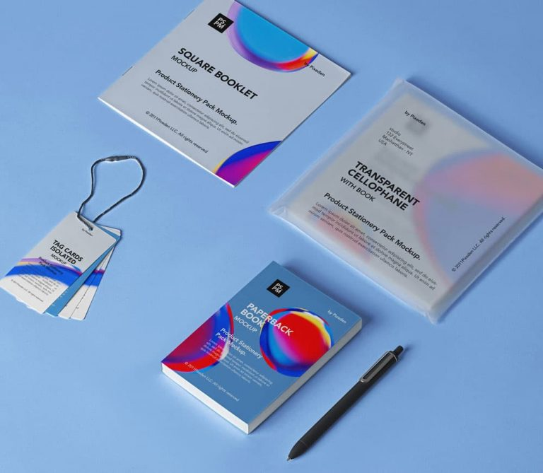 Free Product Stationery Branding PSD Mockup