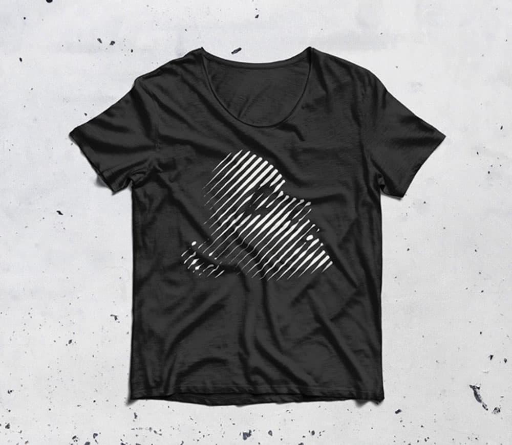 Free Scoop Neck T-Shirt PSD Mockup