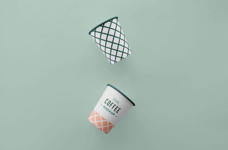 Free Simple Coffee Cup PSD Mockup