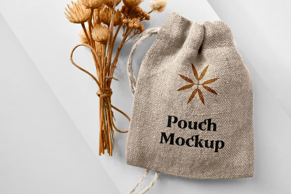 Free Small Pouch Bag PSD Mockup