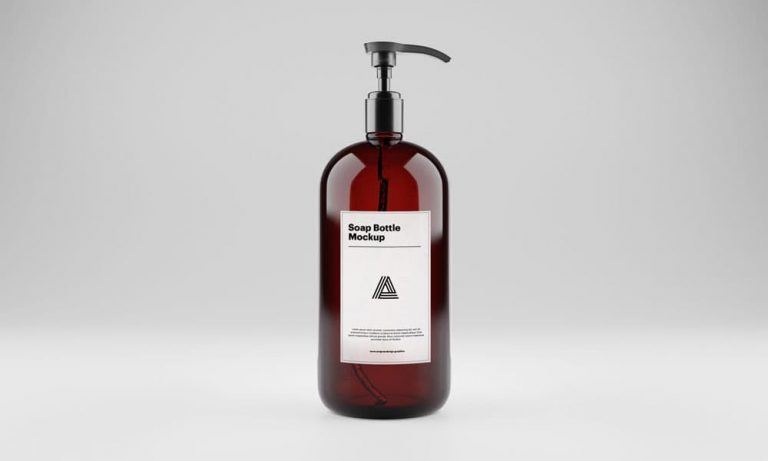 Free Soap Bottle Mockup