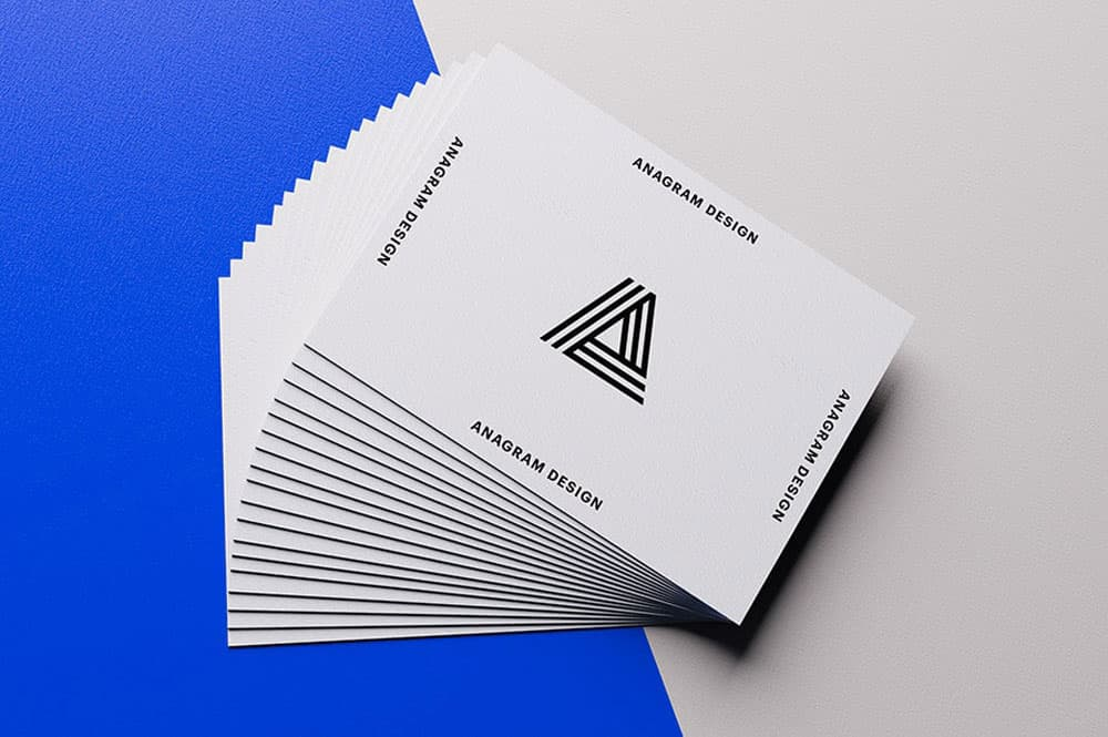 Free Stack of Business Cards Mockup