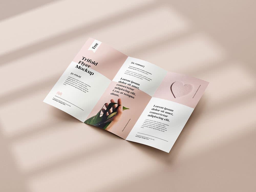 Free Tri-Fold Flyer PSD Mockups