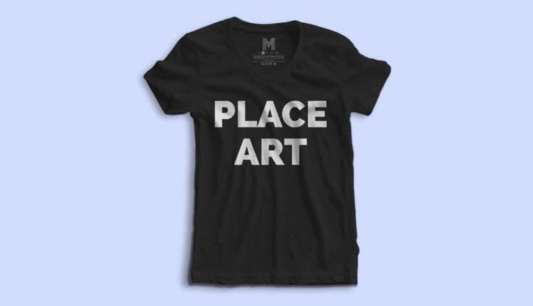 Free Women's T-Shirt PSD Mockup