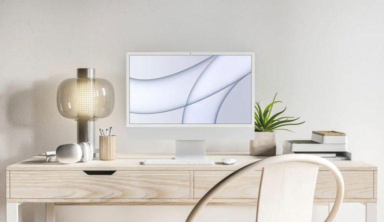 Free iMac 2021 PSD Mockup