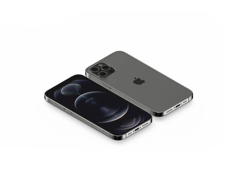 Isometric iPhone 12 Pro Free PSD Mockup